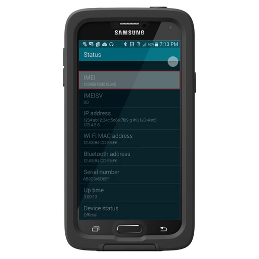 Samsung Galaxy S5 IMEI Number