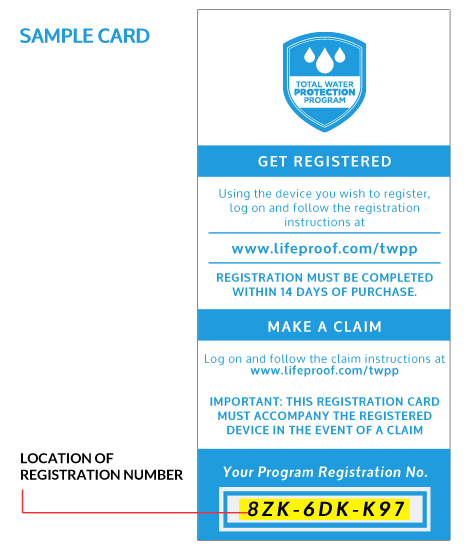Sample Registration Card